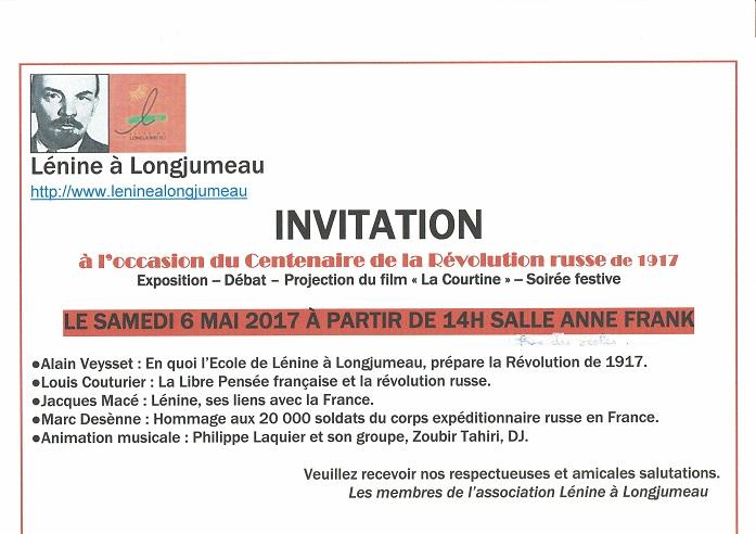 Evénements : Lénine à Longjumeau